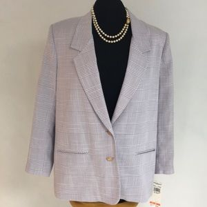 ALFRED DUNNER Lilac Blazer MWT
